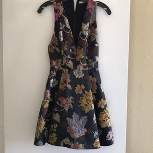 Alice and Olivia black multicolored dress